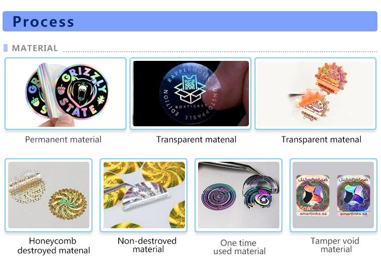 Lembaran pelekat pencetakan glitter khas, label lutsinar pelangi holografik